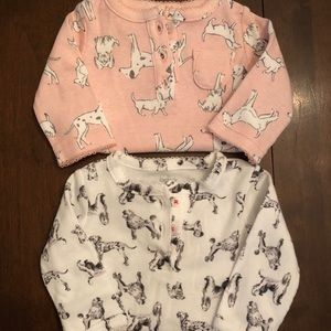Carters NB onsies For the dog lover NWOT